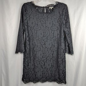 Joie Sheer Black Lace Anella Dress from Revolve